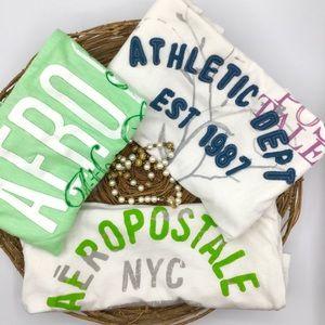 3 Vintage Aeropostale T-shirts XS